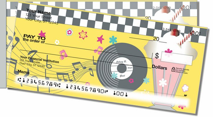 1950s Rock and Roll Side Tear Personal Checks