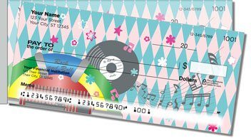 1950s Rock and Roll Side Tear Personalized Checks