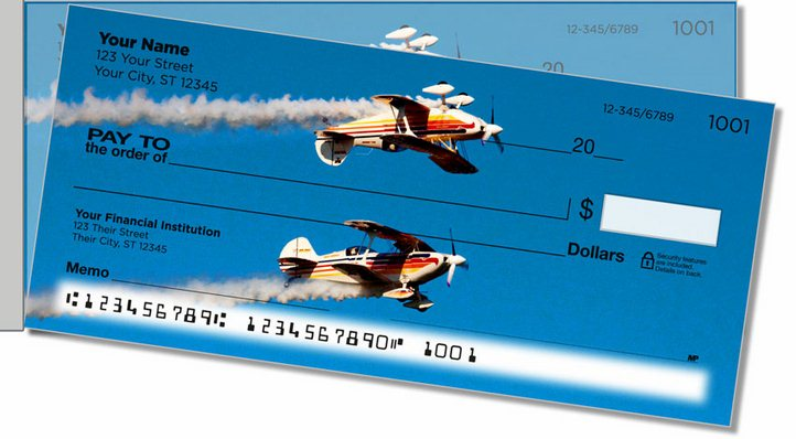 Aerobatic Air Show Side Tear Personal Checks