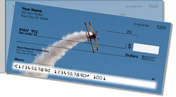 Aerobatic Air Show Side Tear Personalized Checks