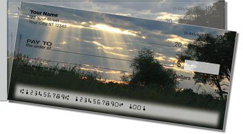 African Sunset Side Tear Personalized Checks