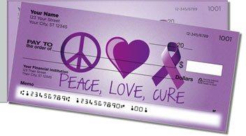 Alzheimers Awareness Side Tear Checks