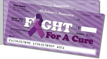 Alzheimers Awareness Side Tear Personalized Checks