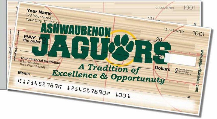 Ashwaubenon Athletic Side Tear Personal Checks