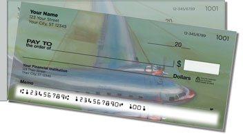 Aviation Art Side Tear Personalized Checks