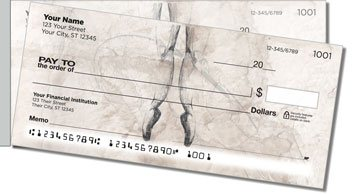 Ballerina Side Tear Personalized Checks