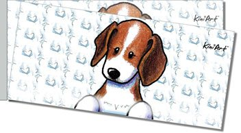 Beagle Side Tear Personalized Checks