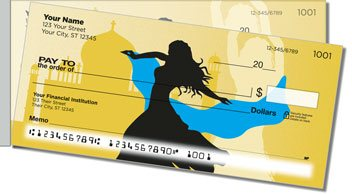 Belly Dancing Side Tear Personalized Checks