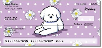 Bichon Frise Personalized Checks