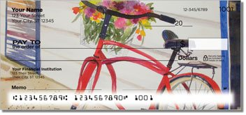 Bicycle Art Personalized Checks