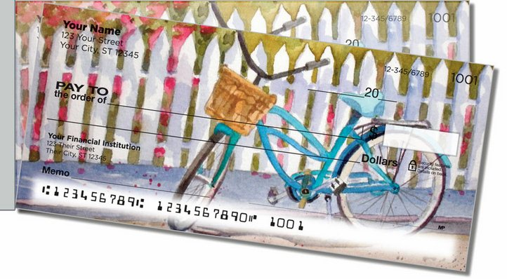 Bicycle Art Side Tear Personal Checks