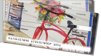 Bicycle Art Side Tear Personalized Checks