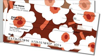 Big Floral Side Tear Personalized Checks
