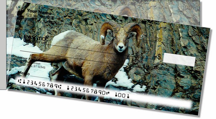 Big Horn Sheep Side Tear Personal Checks