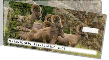 Big Horn Sheep Side Tear Personalized Checks