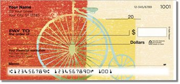 Bike Art Personalized Checks