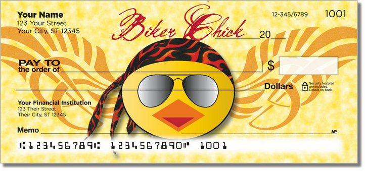 Biker Chick Personal Checks