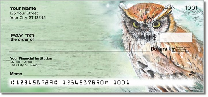 Bird Artwork Personal Checks