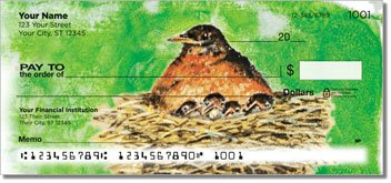 Bird Artwork Personalized Checks