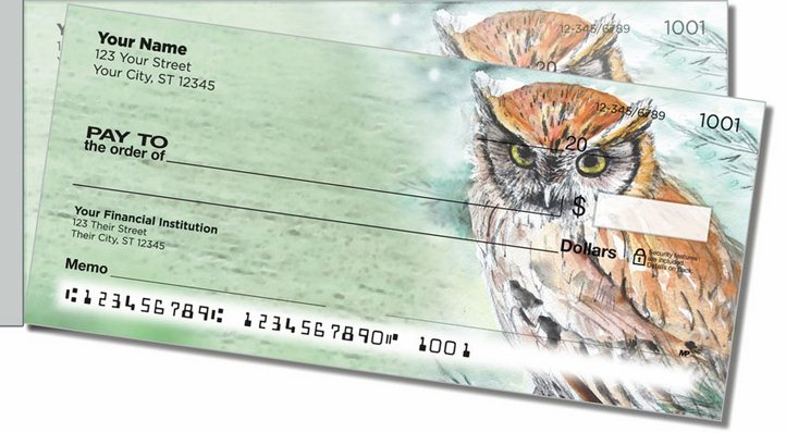 Bird Artwork Side Tear Personal Checks