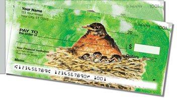 Bird Artwork Side Tear Personalized Checks