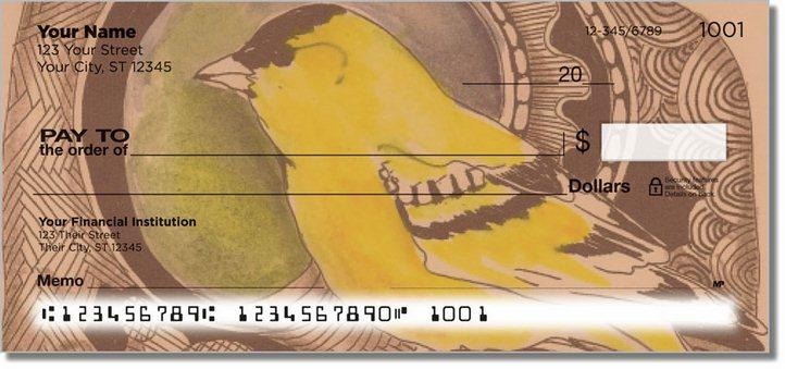 Bird Drawing Personal Checks