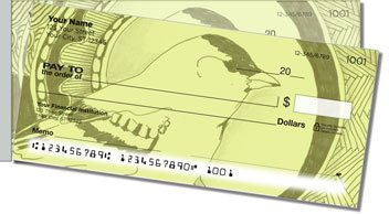 Bird Drawing Side Tear Personalized Checks
