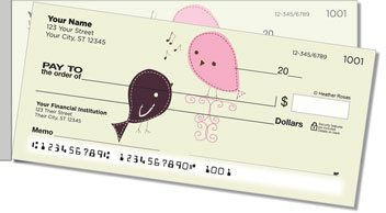 Bird Garden Side Tear Personalized Checks