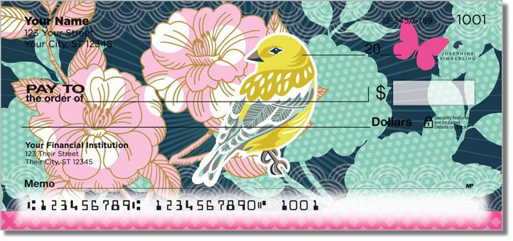 Birds and Blooms Personal Checks