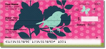 Birds and Blooms Personalized Checks