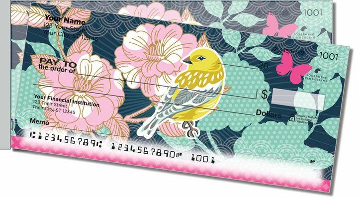 Birds and Blooms Side Tear Personal Checks