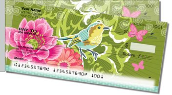 Birds and Blooms Side Tear Design Checks