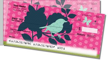 Birds and Blooms Side Tear Personalized Checks