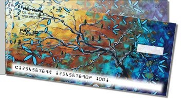 Birds and Blossoms Side Tear Personalized Checks