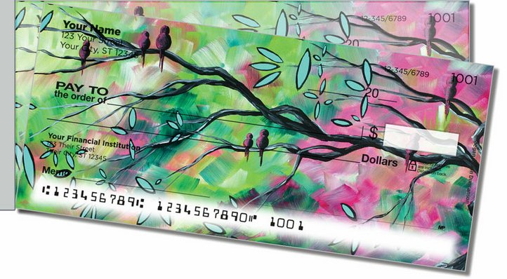 Birds of Whimsy Side Tear Personal Checks