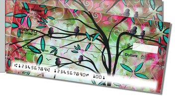 Birds of Whimsy Side Tear Personalized Checks
