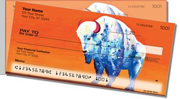 Bison Side Tear Personalized Checks
