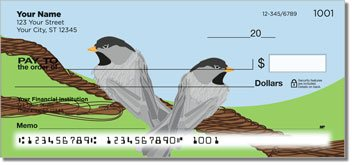 Black-Capped Chickadee Personalized Checks