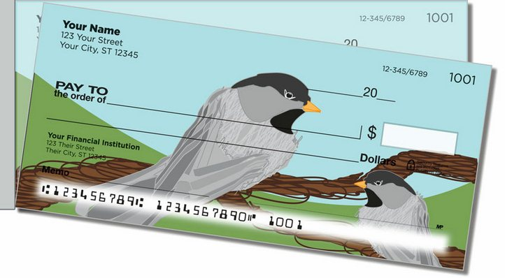 Black-Capped Chickadee Side Tear Personal Checks