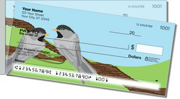 Black-Capped Chickadee Side Tear Design Checks