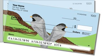 Black-Capped Chickadee Side Tear Personalized Checks
