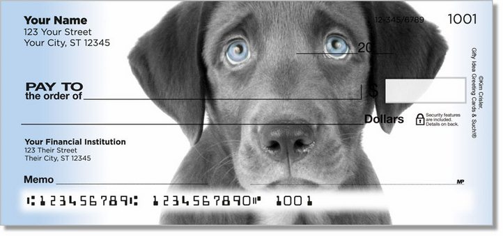 Black Lab Pup Personal Checks