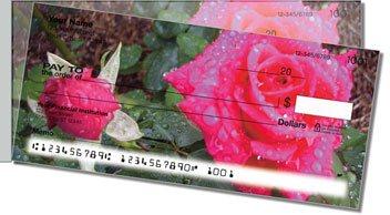 Blooming Rose Side Tear Design Checks