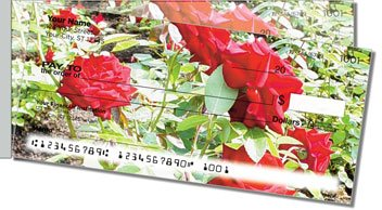 Blooming Rose Side Tear Personalized Checks