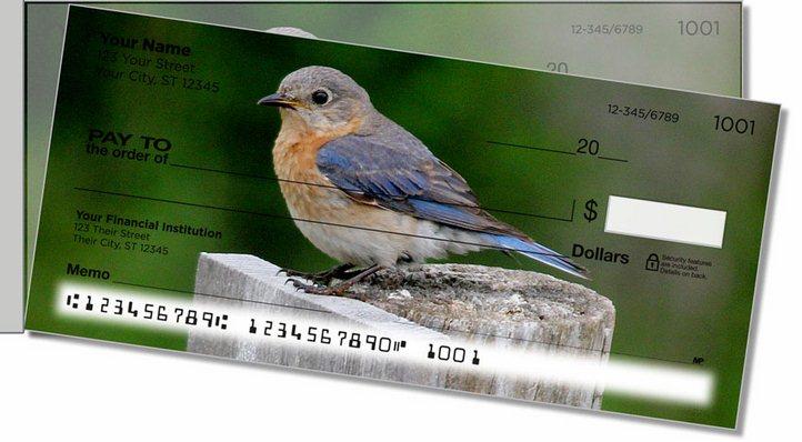 Bluebird Side Tear Personal Checks