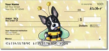 Boston Terrier Personalized Checks