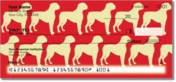 Boxer Dog Personalized Checks