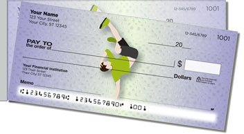 Break Dancing Side Tear Personalized Checks