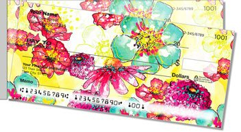 Breezy Blooms Side Tear Personalized Checks