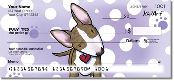 Bull Terrier Series Personalized Checks